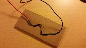 LED in Cardboard