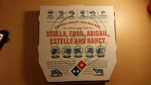 Stenciled Pizza Box