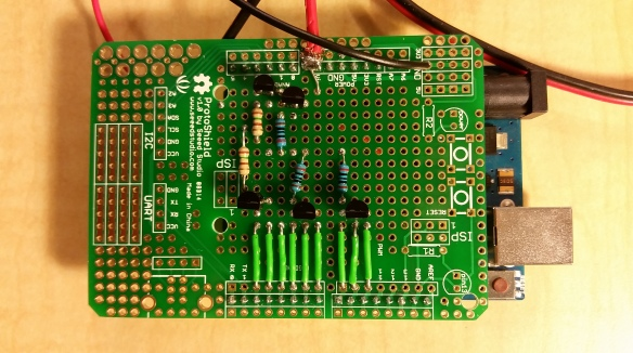Transistors Soldered In